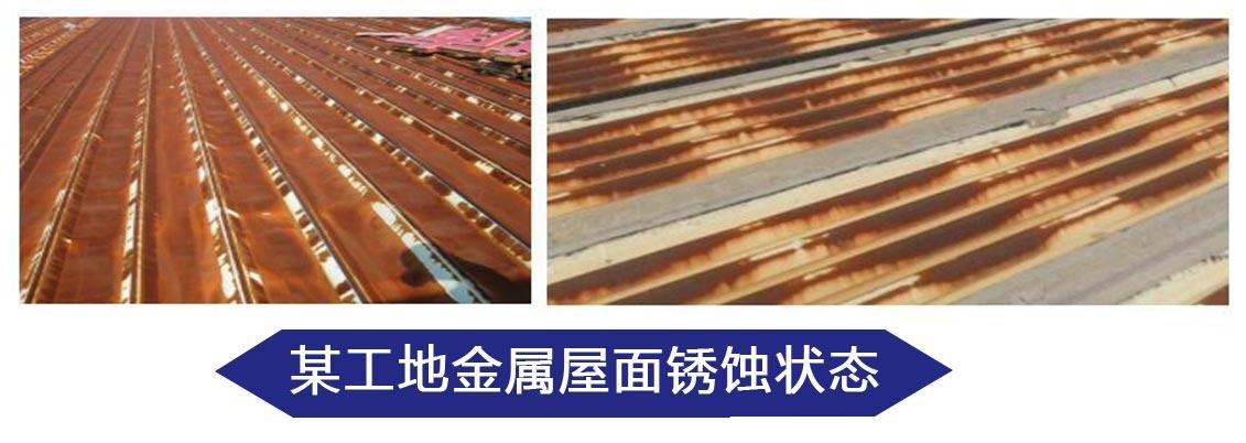 某工地金属屋面锈蚀状态