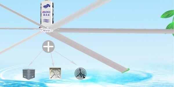 高大型厂房降温通风的常用设备,懿晟德工业风扇、环保空调