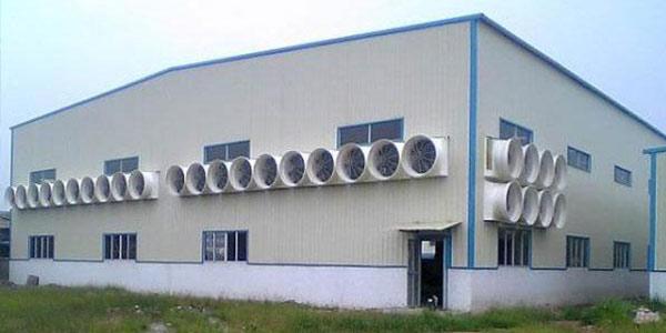 厂房挑选降温机器设备负压风机要注意什么?