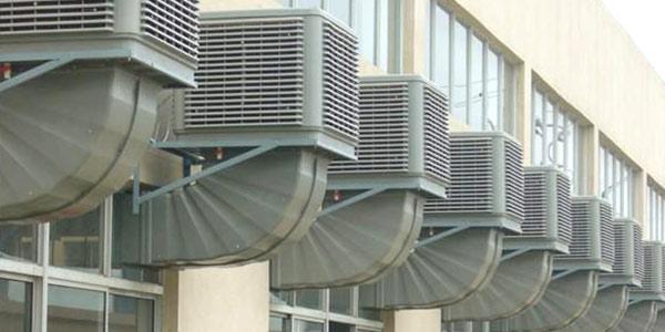 注塑车间现场通风降温难吗?使用100㎡1小时1度电的通风降温设备。